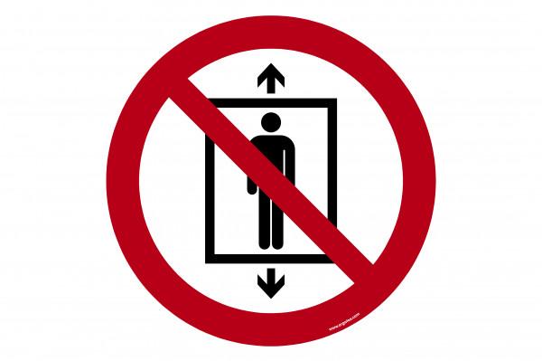 """Señal para pisos """"Prohibido el transporte de pasajeros"""""""