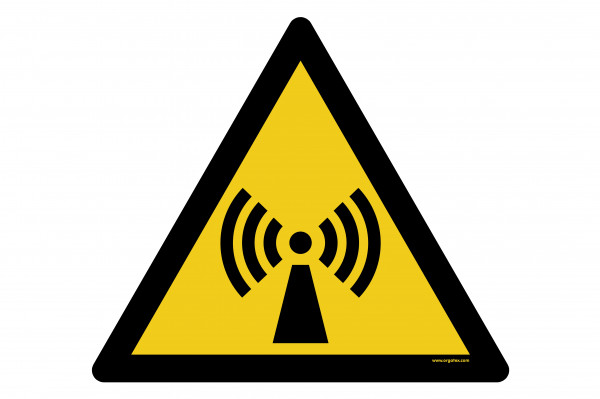 """Señal para pisos """"Advertencia de radiación no ionizante"""""""