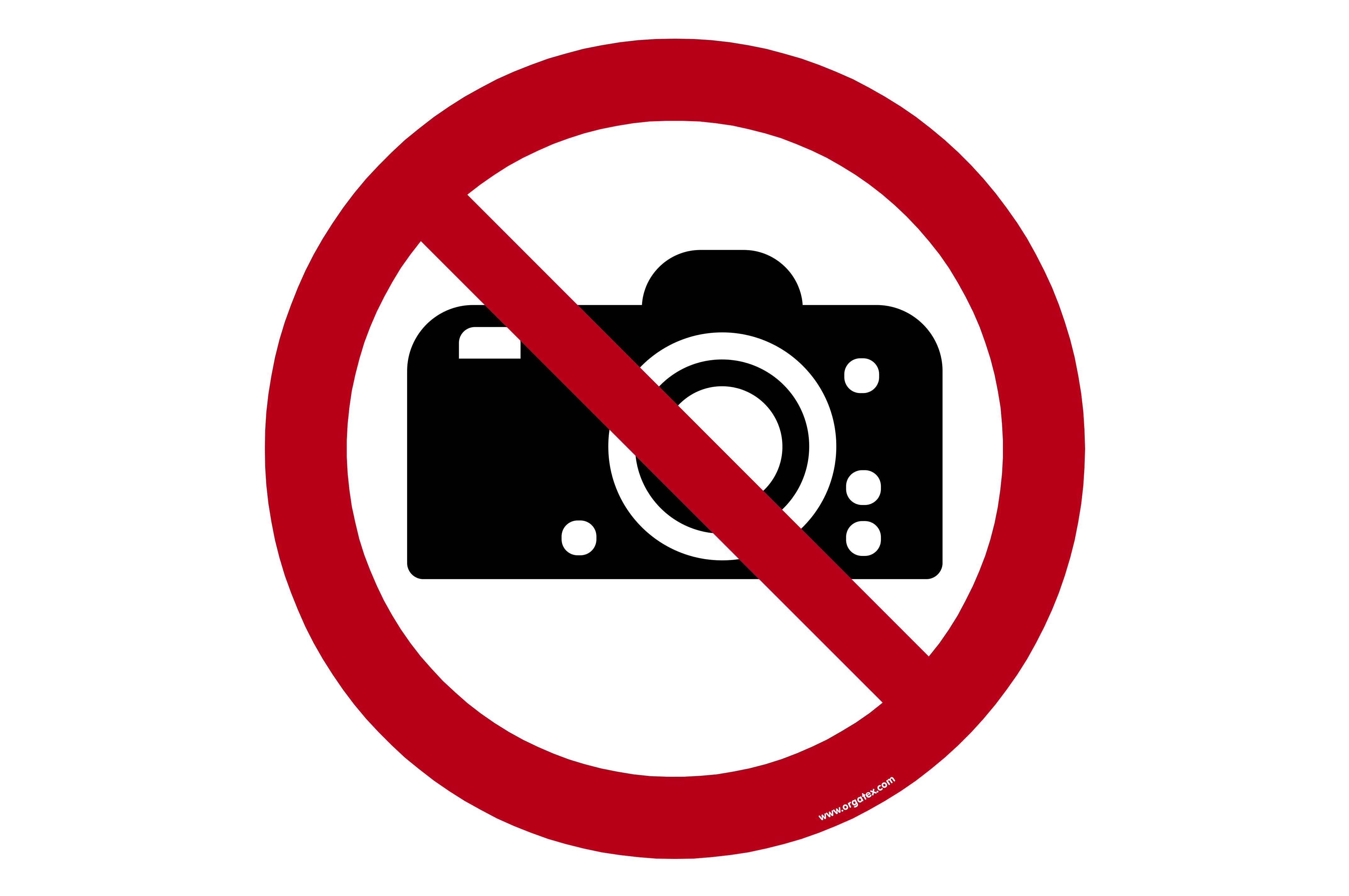 """Floor symbol """"No photography"""""""